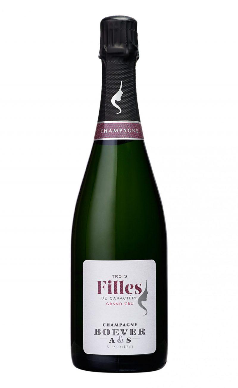 Champagne Grand Cru Extra Brut Millésime 3 Filles de Caractère A&S Boever, SimplyChampagne